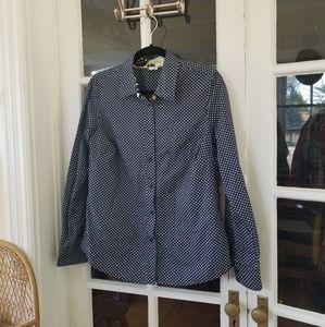 🆕️ Anthro - Polka Dot Button Down Shirt